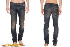"DIESEL ""Shioner"" Slim Skinny Leg Cotton Blue Jeans in 0813S NEW NWT  #DIESEL #SlimSkinny"