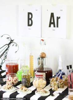 Love this for a Halloween party!  HALLOWEEN BAR :: SCIENCE LAB — Celebrations at Home