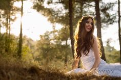 Vaso being beautiful in the Kykkos Forest. Cyprus Wedding Photography