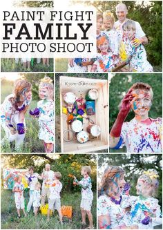 Make memories with your family by surprising them with a Paint Fight Photo Shoot! This messy, playful activity will be unforgettable fun, and you'll always have the photos to cherish!