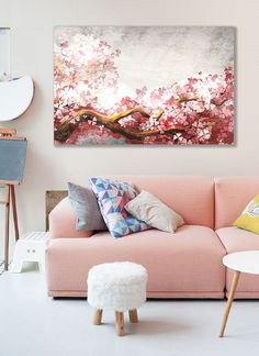 Wanddeko - Bild auf Leinwand - ein Designerstück von Ortons bei DaWanda Designer, Love Seat, Couch, Throw Pillows, Etsy, Bed, Furniture, Home Decor, Wall Canvas