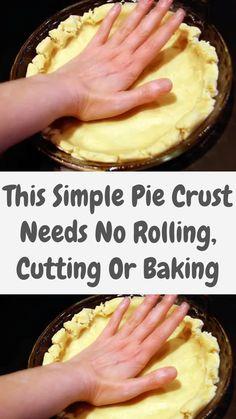 New Dessert Recipe, Pie Dessert, Dessert Recipes, Pie Dough Recipe, Crust Recipe, Just Desserts, Delicious Desserts, Yummy Food, Easy Pie Crust