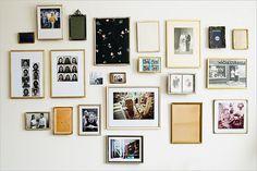 Eclectic photo arrangement