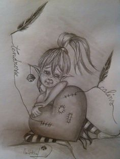 Fairy Drawings, Dark Art Drawings, Chalk Drawings, Drawing Sketches, Fairy Coloring Pages, Coloring Books, Elfen Tattoo, Fairy Sketch, Fairy Tattoo Designs