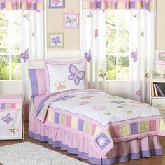 Butterfly Bedding in Pink and Lavender