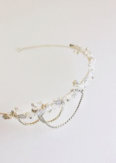 NADIA Crystal Bridal Headpiece Wedding Tiara For more wedding inspiration please visit www.lolabeeandme.com