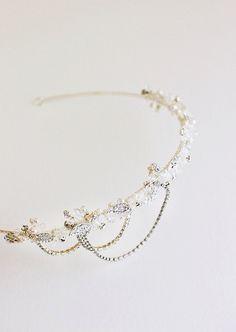 NADIA Crystal Bridal Headpiece Wedding Tiara