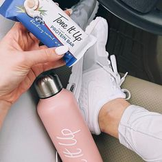 best snack on the go ~ your tone it up nutrition protein bars!!!  Find 'em at Target  Blueberry Coconut, Peanut Butter Chocolate, and Salted Caramel