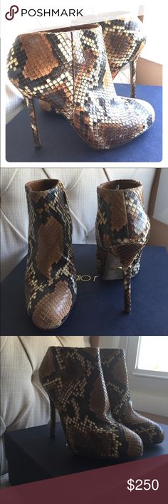 Sergio Rossi real Python 🐍 skin bootie 🔥hot deal🔥Beautiful real python skin bootie in excellent condition one of a kind comes with an original box and dust bag Sergio Rossi Shoes Ankle Boots & Booties