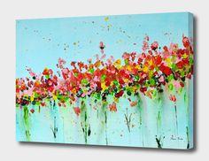 Cotton Canvas, Canvas Prints, Flowers, Painting, Image, Design, Art, Art Background, Photo Canvas Prints