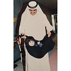 Hamdan bin Rashid bin Saeed Al Maktoum y su hija, Latifa bint Hamdan bin Rashid Al Maktoum. Vía: latifahamdan_mak