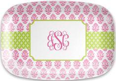 Beti Pink Melamine Platter