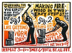 Survival Tips | Kenspeckle Letterpress Trust Yourself, Take Care Of Yourself, Survival Tips, 21st Century, Letterpress, Note Cards, Packaging Design, Have Fun, Bring It On
