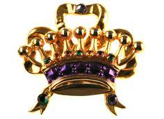 Crown Pin Mardi Gras