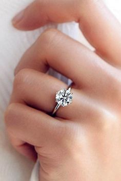 27 Simple Engagement Rings For Girls Who Love Classic ❤️ simple engagement rings round diamond simple band solitaire white gold ❤️ See more: http://www.weddingforward.com/simple-engagement-rings/ #wedding #bride #engagementrings