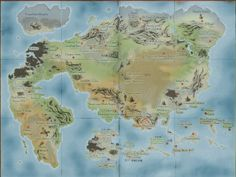 A map of the Dragon Ball/Dragon Ball Z world, including landmarks, major towns/cities, and battle areas from the series. Fantasy World Map, Fantasy Places, Dbz, Most Popular Tv Shows, Imaginary Maps, Sword And Sorcery, Tomato Plants, Fan Art, Dragons