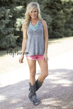 Back to the Details Tank | The details make this summer tank outfit perfect!