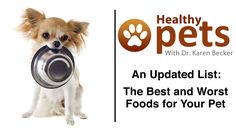 Dr. Becker Shares Her Updated List of Best and Worst Pet Foods-Haven't listened to this yet, but will when I have a minute.  I want to feed my pets what is best for them.