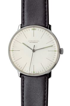 Junghans Watches: Max Bill Automatic Watch with Lines Model 3501