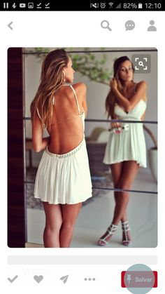 dress white dress white sexy sexy dress open back open backed dress Party Fashion, Look Fashion, Gipsy Fashion, Fashion Ideas, Summer Outfits, Cute Outfits, Summer Dresses, Party Dresses, Sexy Dresses