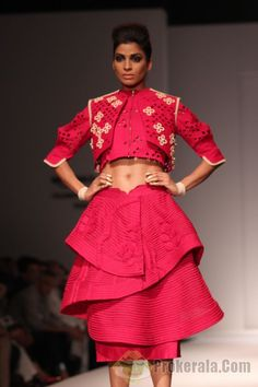 Sahil Kochhar The designer will make your jaws drop with his latest collection seen on the ramp at AIFW 2015. The season's collection coined as Haro Barno or green gate looks inviting and evergreen.