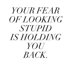 Don't let fear hold you back from things you want to experience in life take chances and start living for yourself don't be considered about what people think take chances and don't be afraid to be you and experience life your way