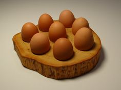 Wooden  egg holder easter egg holder tea light holder by Woodur