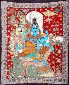 Kalamkari Painting, Indian Folk Art, Fashion Painting, Lord Shiva, Painting Styles, Kids Rugs, Hand Painted, Art Prints, Drawings