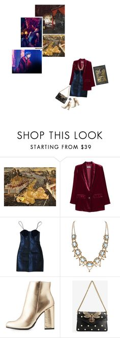 """creatures of the night"" by shadow ❤ liked on Polyvore featuring MANGO, Yves Saint Laurent, Bamboo and Gucci"