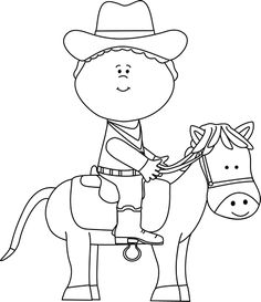 Black and White Cowboy on a Horse Clip Art - Black and White Cowboy on a Horse Image Cowboy Theme, Western Theme, Cowboy Pictures, Horse Pictures, Wild West Crafts, Cowboy Draw, Horse Clip Art, Cowboy Crafts, Horse Clipping