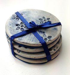 Handmade Ceramic Coaster Sets by Charlotte Hupfield Ceramics