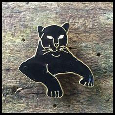 0577 Panther enamel pin
