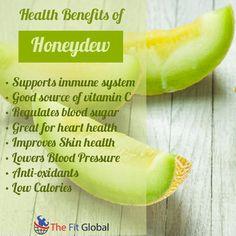 Health benefits of Honeydew Honeydew Melon Nutrition, Honeydew Melon Benefits, Fruit Benefits, Health Benefits, Sugar Health, Slimming World Diet, Fruits And Veggies, Vegetables, Diet Tips