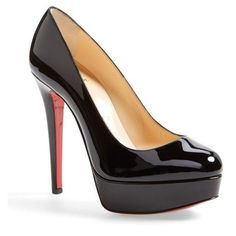 christian louboutin for sale Black High Heel Pumps, Black Patent Leather Shoes, Stiletto Pumps, Black Shoes, Black Stilettos, Louboutin Pumps, Christian Louboutin Outlet, Glamour, Fashion Heels