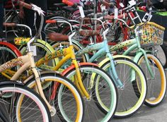 Love Old School Cruiser Bicycles + a Big White Basket