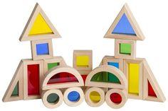 $20 Guidecraft Jr. Rainbow Block Set (20 Piece)