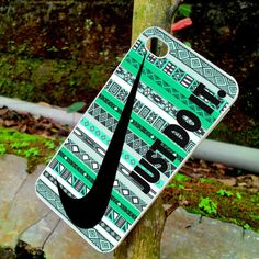 Nike Just Do It on aztec mint pattern / iPhone 4/4s / by YankPhone
