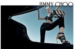 Ondria Hardin for Jimmy Choo SS15 by Steven Klein | via ELLE.com