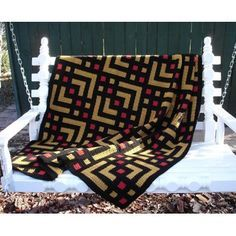 The A-Maze-ing afghan is crocheted in one piece using the Star Stitch. Working…