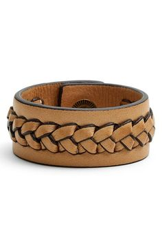 Frye 'Jenny' Braided Leather Bracelet available at #Nordstrom--$48