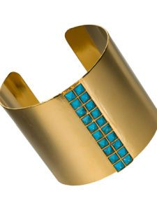 Turquoise Pyramid Stone Cuff in Aztec by Sorrelli