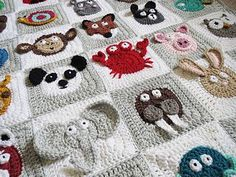 Crochet pattern: Zookeeper's Blanket by Justine Walley (ScatteredDahlias) could work out pattern if I had to.