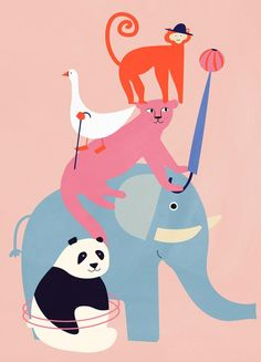 « Animal Pyramid » par Little Flourishes | #Animaux #Artpourenfants #Animauxsauvages #Multicolore #JUNIQE | Plus daffiches sur www.juniqe.fr Kids Bed Linen, Panda, Printable Gift Cards, Affordable Wall Art, Kid Beds, Book Gifts, Flourish, Art For Kids, Posters
