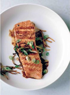Chargrilled Salmon with Ginger, Black Pepper and Fish Sauce - The Happy Foodie