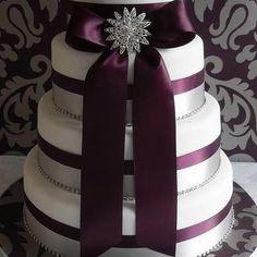 Ribbon cake. Very elegant...different color