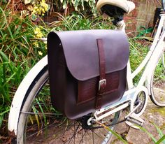 Leather Bicycle Pannier Satchel Bag..... Detachable Strap