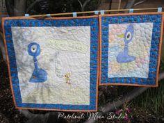 Patchouli Moon Studio~ Pigeon Quilt Turn childs art into a quilt.