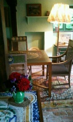 Virginia Wolfs living room at Monks House, Rodmell East Sussex <3