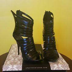 Black Strappy Heels Black Strappy Heels Charlotte Russe Shoes Heels