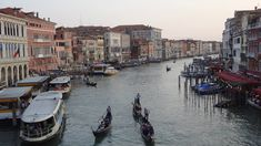 Canal Grande at sunset - Venezia.